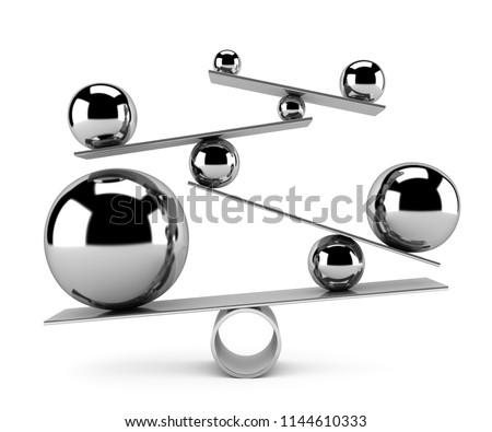 Balance concept - 3d render
