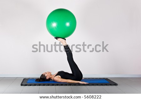 Balance exercise.Pilates gymnastics is a Germanic evolution of yoga, used by athletes to improve flexibility and body fitness and by chiropractors for patient recovery.