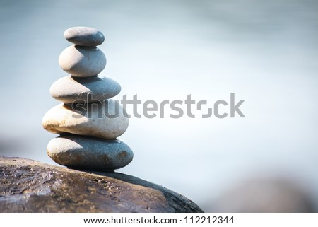 Balance meditation - stock photo