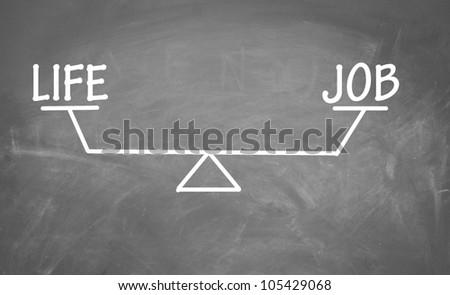 Balance of life and job - stock photo