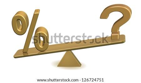 balance rates question mark