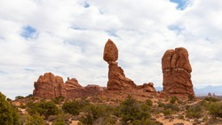 Balanced Rock in Arches Nationalpark in Utah