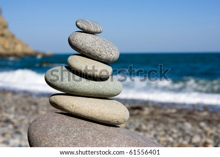 Balanced sea stones
