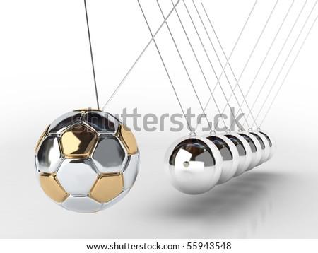 balancing balls Newton's cradle (soccer ball )