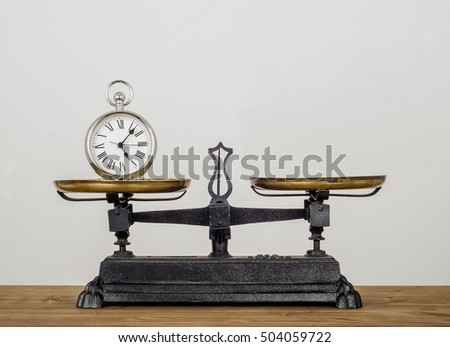 balancing time. old pocket...