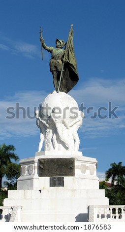 Balboa Monument at Panama City, Panama. Pacific Ocean Discoverer.