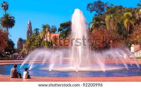 Balboa Park's Water Fountain Located in Sunny San Diego, California