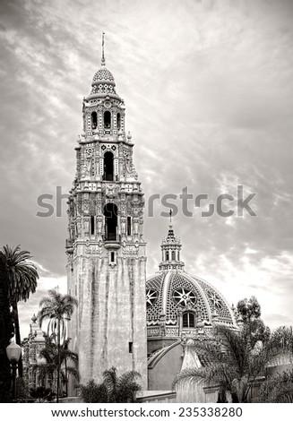 Balboa Park San Diego California, Black and White Photo