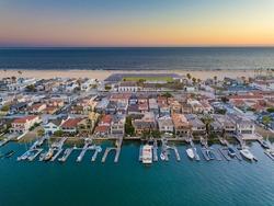 Balboa Peninsula in Orange County Newport Beach California