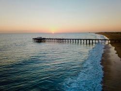 Balboa Pier Newport Beach California at Sunset