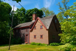 Balch House was build in 1636 by John Balch at 448 Cabot Street in city of Beverly, Massachusetts MA, USA.