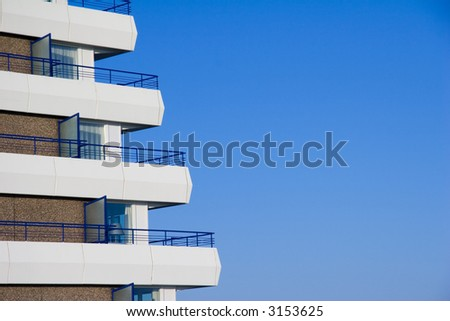 balconies of a tourism hotel