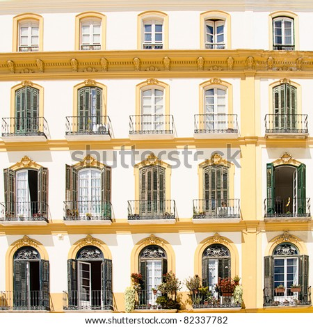 balconies with pots