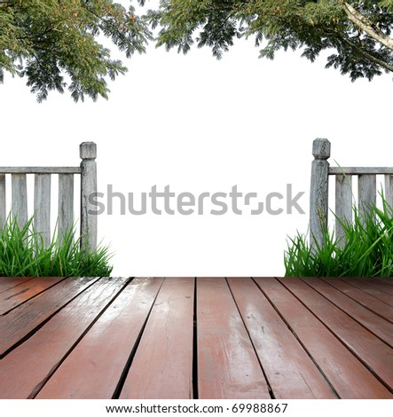 balcony and white background