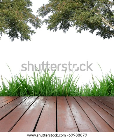 balcony and white background