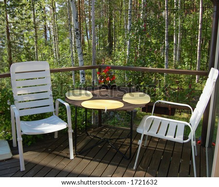 Balcony at a Finnish summer cottage