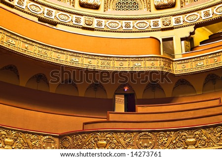balcony at luxury classical theater