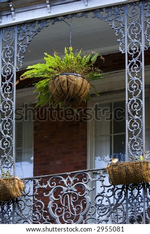Balcony detail on French Quarter house, New Orleans