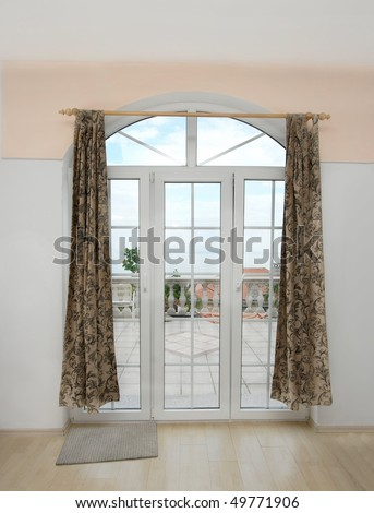 Balcony door with a great view