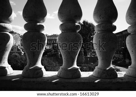 balcony in rome