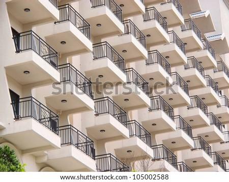balcony of hotel
