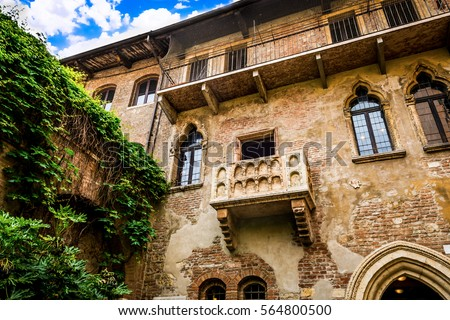 Photo of  balcony of Juliet's house in Verona, Italy