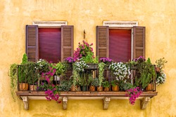 Balcony with flowers in Verona
