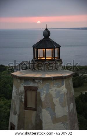 Bald Head Island lighthouse, North Carolina.