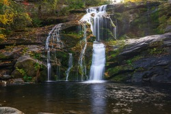 Bald River Falls, Tellico Plains, Cherokee National Forest. Appalachian Mountains, Tennessee