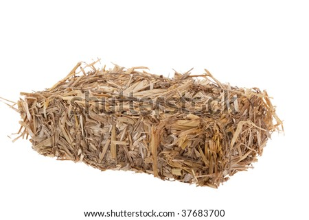Bale of straw bound with quadratic form