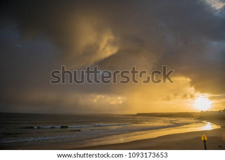 Baleal is a small island and located north of Peniche, Portugal. The beach of Baleal is a great and clean beach popular with surfers.  We can see amazing scene at daybreak, sunrise and evening.