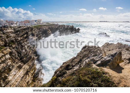 Baleal is a small island and located north of Peniche. The Baleal island is formed with rock sediments and strange  shaped rocks. We can see amazing magnificent view and sometimes giant breakers.