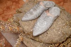 balgha marocaine . Bride shoes on her wedding day