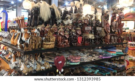 Bali Indonesia 30 sept 2018 . Local handmade souvenir made in bali . Tourist come and buy those souvenir because it was cheap and good quality .  #1312393985