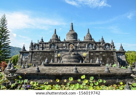 Bali landmark buddhist temple of Banjar exotic place of North Bali Indonesia