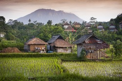 Bali Rice Fields. The village of Sidemen, in Bali, Indonesia, boasts some of the most beautiful rice fields in all of Asia. New rice is being planted to produce the highest quality product.