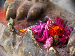 Balinese flowers offering to the Hindu Gods