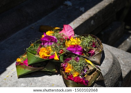 Balinese Hindu offerings to God