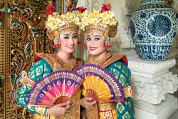 balinese legong dancers in costume