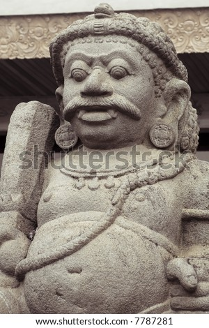 balinese stone statue guardian