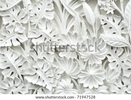 balinese style carved stone
