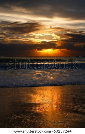Balinese sunset on Jimbaran beach
