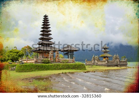 Balinese temple - artistic vintage picture