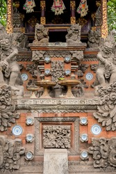 Balinese traditional temple stone carving ornament