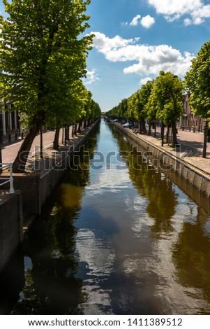 Balk beautiful village in the Netherlands, province Friesland, region Gaasterland Stockfoto ©