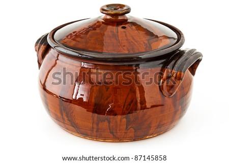 Balkan traditional clay pot cooking