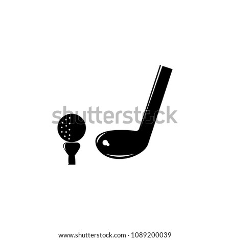 ball and putter illustration. Element of sport for mobile concept and web apps. Detailed ball and putter illustration can be used for web and mobile. Premium icon on white background