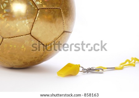 Ball and whistle on a white background 4