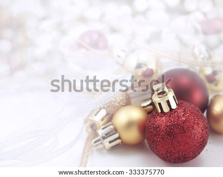Ball Christmas decoration on abstract background