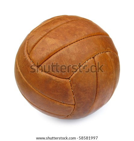 Ball football soccer leather brown vintage